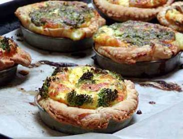 Quiche is popular for lunch. Spinach, broccoli, hot pepper plus other flavors. You pick the flavor and it is heated up for you.